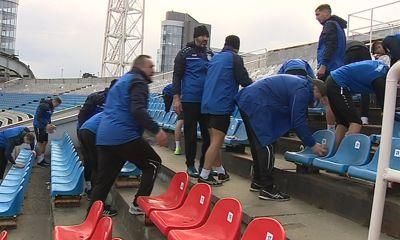 «Шинник» сделал генеральную уборку стадиона перед игрой с «Тюменью»