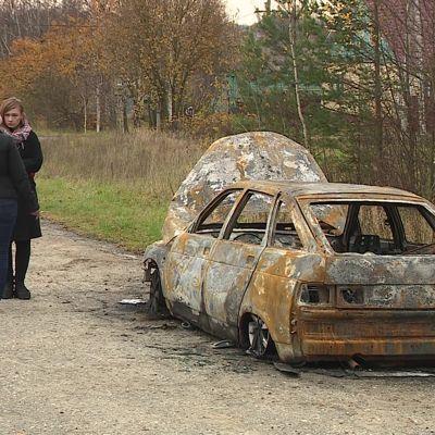 Хулиганство или месть за репортаж? У даниловского журналиста сожгли автомобиль