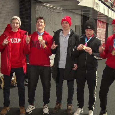 Ярославские хоккеисты привезли золотые медали с юношеской олимпиады