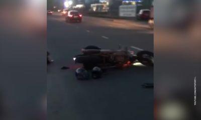 В Рыбинске мотоциклист без прав выскочил на встречку и устроил ДТП