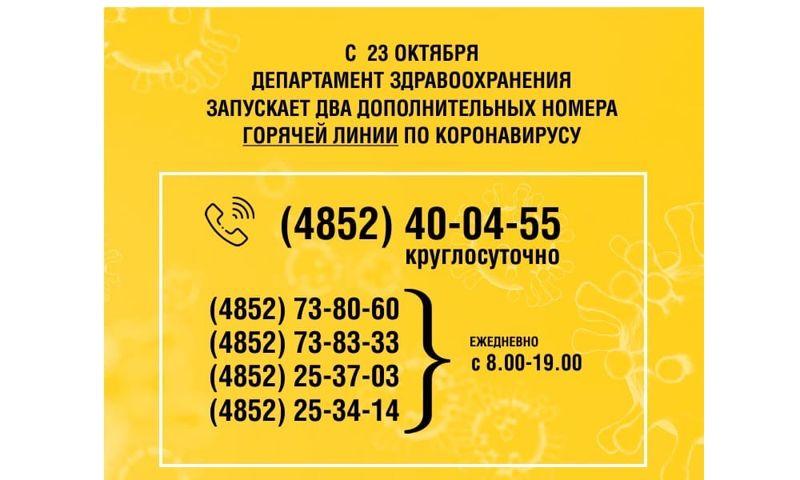 В Ярославской области появится два новых телефона горячей линии по коронавирусу