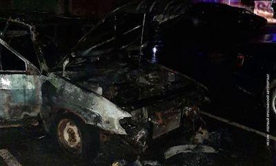 На Красном перекопе пожарные тушили две машины