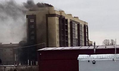 На Суздалке загорелась недостроенная многоэтажка
