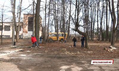 Депутаты помогают школьникам Ярославского района с весенней уборкой