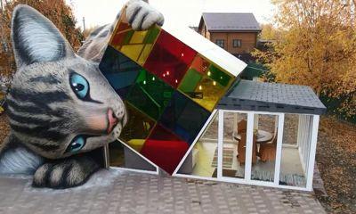 Под Ярославлем появился кошка-дом, напечатанный на 3D принтере