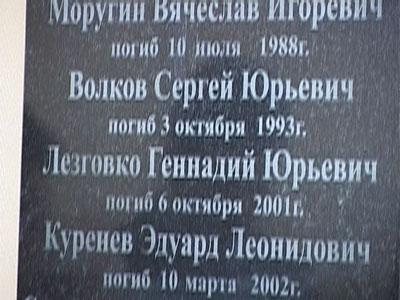 Открытие мемориальной доски