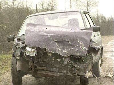 Авария на окружной трассе