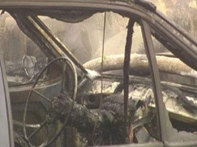 На улице Антипова сгорел гараж