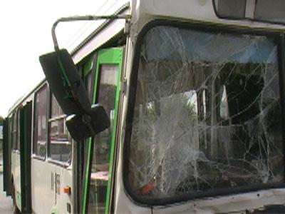 На проспекте Фрунзе столкнулись два автобуса