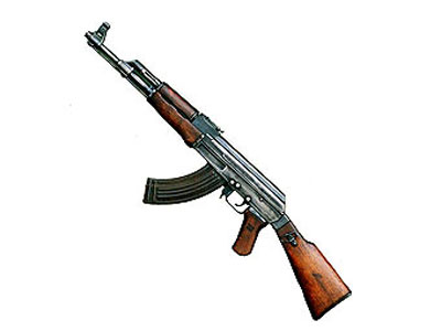 Милиционеры нашли в лесу АК-47