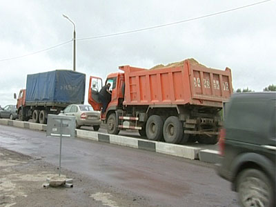 Пробка на окружной дороге