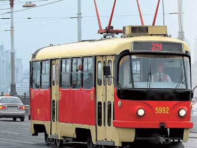 Авария на трамвайных рельсах