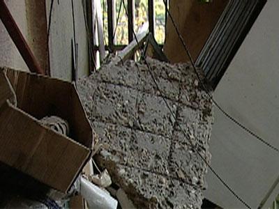 Обрушение балкона Видео