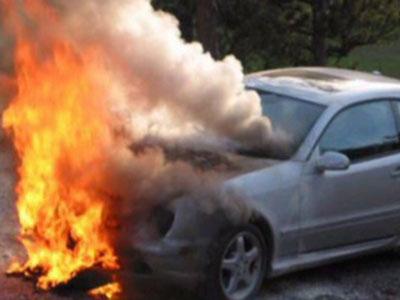 Сгорел автомобиль Видео