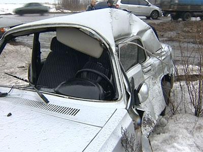 Тройная авария на окружной дороге