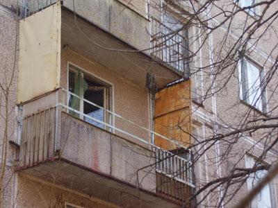 На балконе спасли женщину