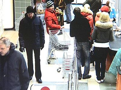 Ограбление в супермаркете