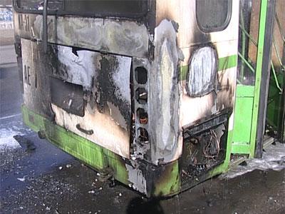 Сгорел рейсовый автобус