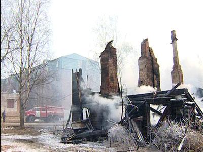 Пожар в Тутаеве