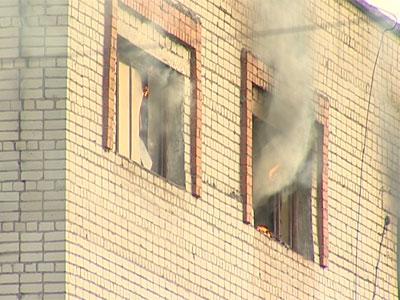 Пожар на военных складах