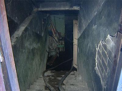 Пожар в подвале дома на проспекте Ленина