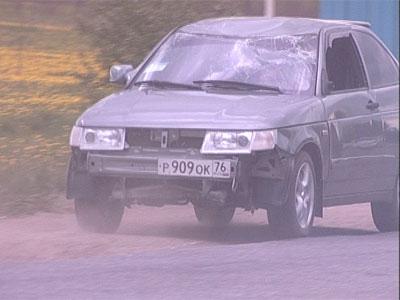 В поселке Заволжье перевернулась машина