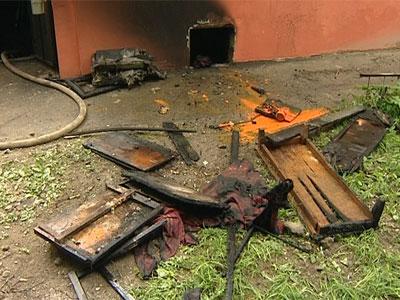 Пожар на улице Чкалова