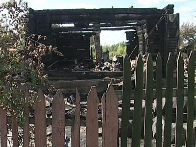 Пожар в поселке Пятовское