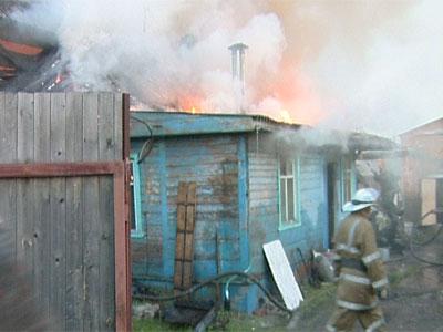 Пожар в посёлке Кармановский