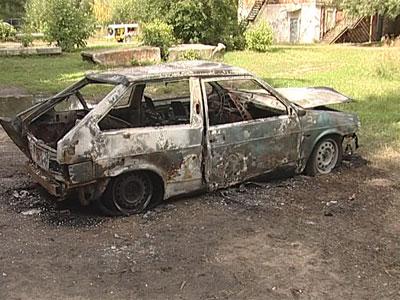Тройной автопожар во Фрунзенском районе