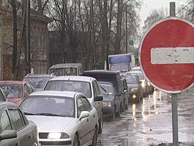 Пробки на Московском проспекте