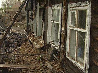 Пожар в Заволжском районе