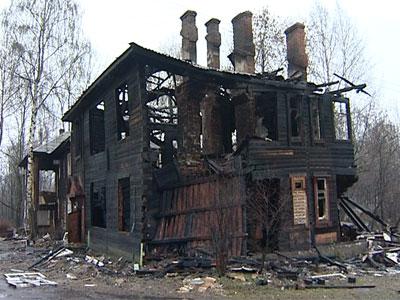 В переулке Коммунаров сгорел дом