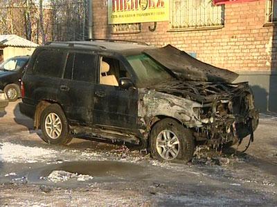 Автопожар на Спартаковской