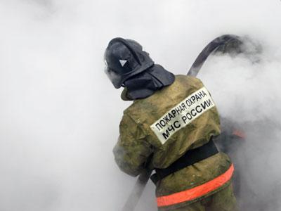 Пожар в поселке Дубки
