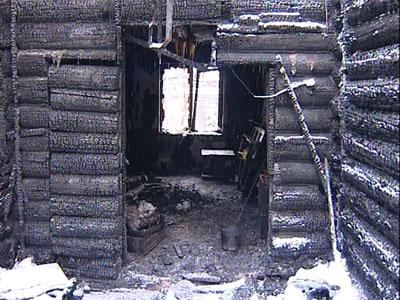 Пожар за Волгой: сгорел деревянный дом