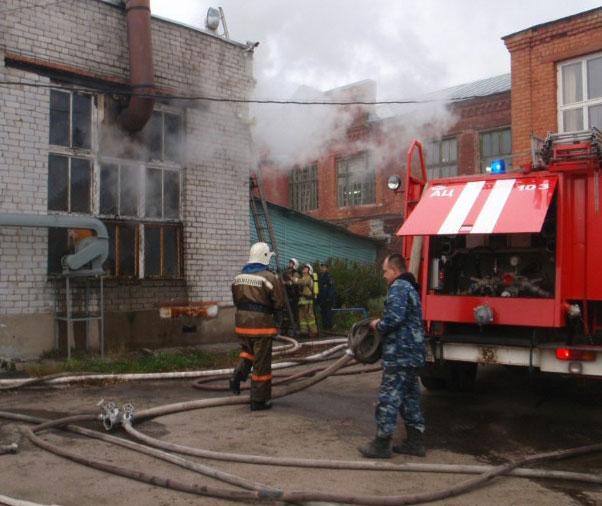 Пожар на фабрике валяной обуви