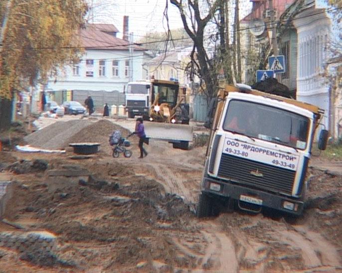В Ростове Великом продолжается ремонт дорог