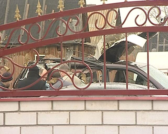 В Данилове взорвали автомобиль предпринимателя