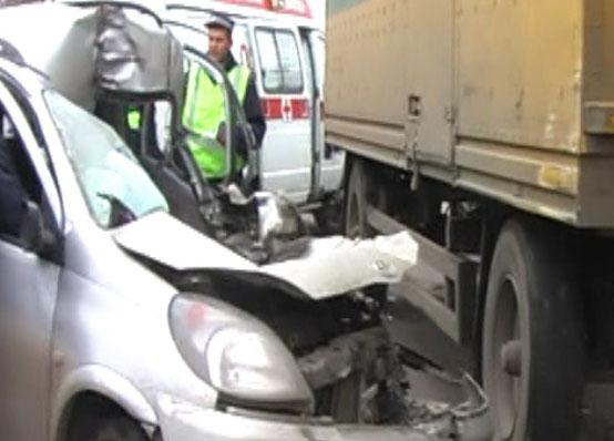 Авария на пересечении проспекта Фрунзе и Тормозного шоссе