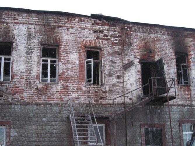 Пожар в Свято-Успенском мужском монастыре