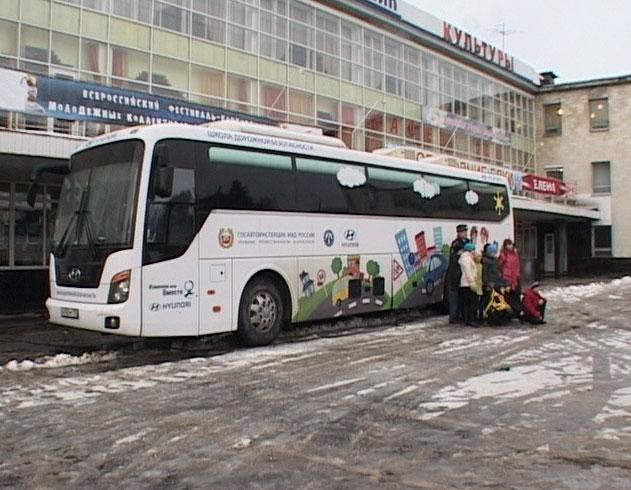 Автобус - тренажер демонстрирует последствия ДТП
