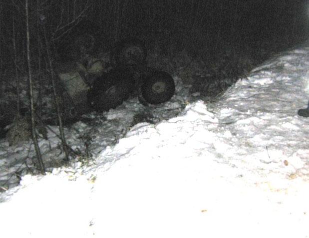 Самодельный трактор попал в аварию