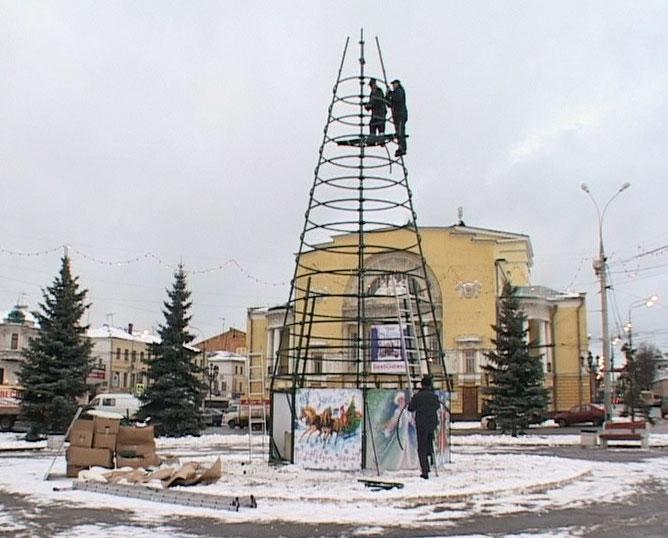 Подготовка города к Новому году