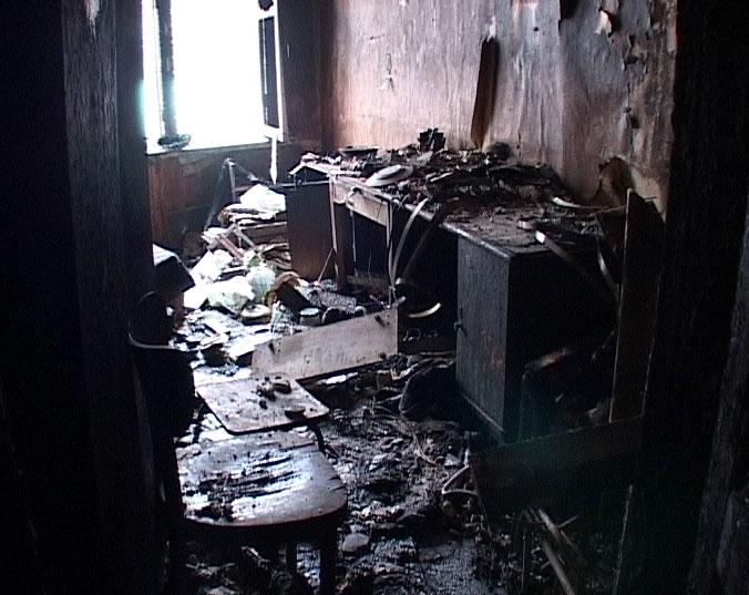 Пожар на улице Карла Либкнехта