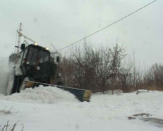 Как расчищали город от снега
