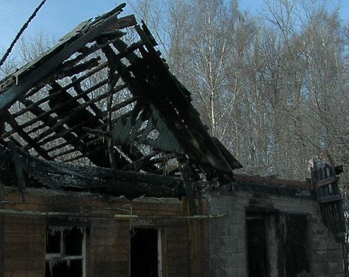 Пожар в доме на улице Домбровского