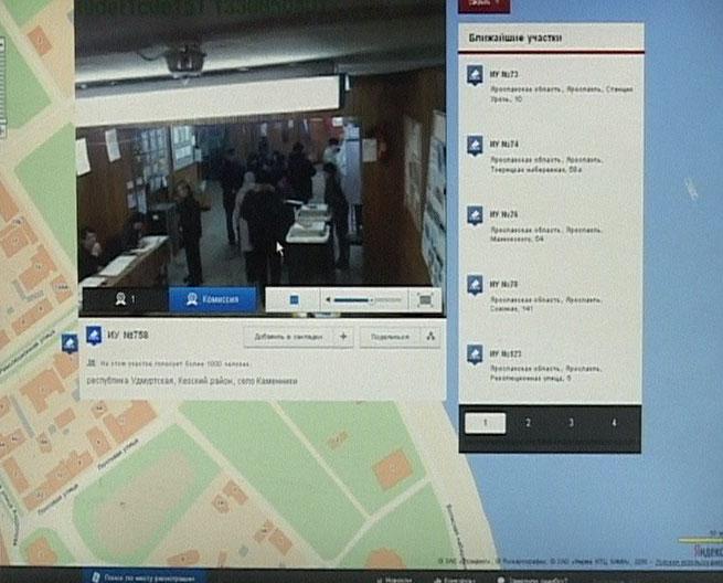Работа веб-камер в день выборов