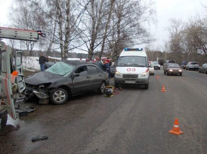 Авария на автодороге Ярославль - Очапки
