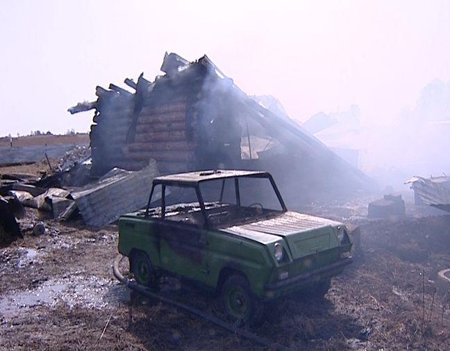 Пожар в деревне Шепелево
